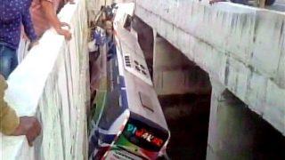 Andhra Pradesh: 11 dead, 30 injured after bus falls off a flyover in Krishna district