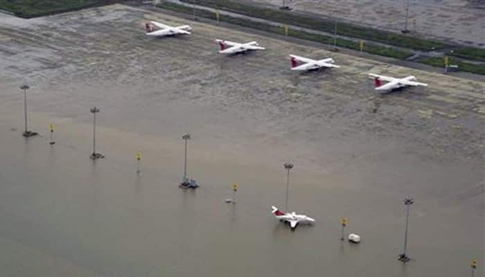 Chennai airport built on the banks of river Adyar. (File image)