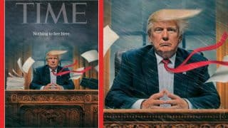 TIME magazine portrays US President Donald Trump's stormy office in latest cover; Twitterati in praise