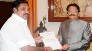 E Palanisamy meets Governor, claims support of 124 AIADMK MLAs; Sasikala camp expects to form government shortly