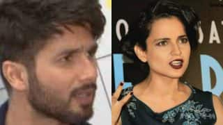 Shahid Kapoor feels Kangana Ranaut should work with all her co-stars in an 'amicable' manner