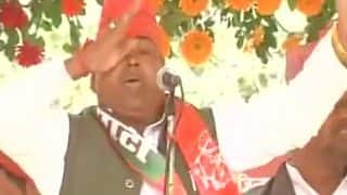 SP leader Gayatri Prajapati breaks down at his rally, says court will do justice
