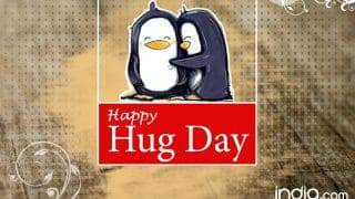 Happy Hug Day Wishes: Best Quotes, SMS, Facebook Status & WhatsApp GIF image Messages to send Happy Hug Day 2017 greetings!