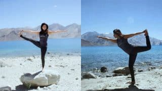 Birthday girl Urmila Matondkar does Yoga in Himalayas and sparks off some serious fitness vibes! (In Pics)