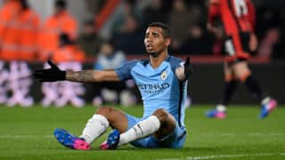 EPL 2017: Manchester City's Gabriel Jesus could miss rest of season with foot injury
