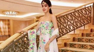 Sridevi's daughter Jhanvi Kapoor looks STUNNING in Manish Malhotra's creation!