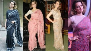 Kangana Ranaut's top 8 immaculate saree looks for Rangoon promotions ! View Pics!