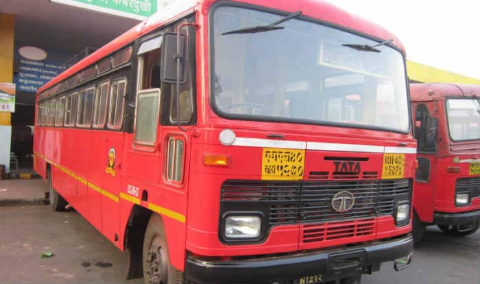 State Transport Buses Go Off The Road In Maharashtra
