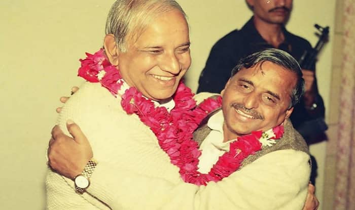 BSP patriarch Kanshiram (left) and SP supremo Mulayam Singh Yadav (right) formed a pre-poll alliance in 1993