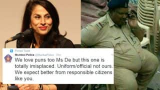 Shobhaa De tweets to shame Mumbai Police with old picture during BMC civic polls, meets with epic burn!