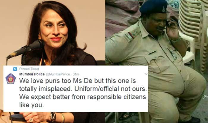 Mumbai police 'owns' Shobha De on Twitter after her 'misplaced' tweet