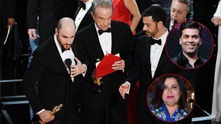 Oscars 2017: Farhan Akhtar, Karan Johar, Farah Khan - Bollywood celebs have the best reactions on Warren Beatty's Moonlight - La La Land gaffe