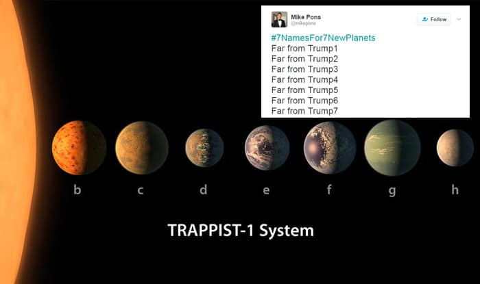 Nasa asks internet to name trappist 1 planets and twitter for Internet plante