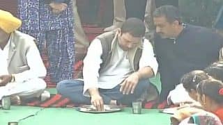 Rahul Gandhi enjoys 'dal-sabzi' with Punjab villagers