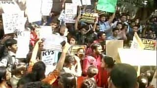 Ramjas College row: Students protest against ABVP at Delhi Police headquarters, Special CP assures action against those who indulged in violence