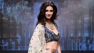 Wowza! Disha Patani graced the LFW runway in this beautiful blue lehenga and choli!
