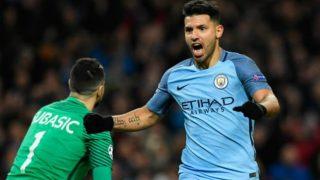 English Premier League 2017-18: Sergio Aguero Shines as  Manchester City Thrash Leicester City; Tottenham Edge Arsenal