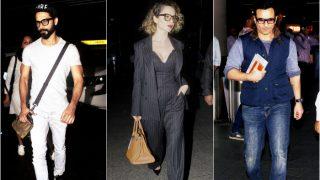 Airport style files: Shahid Kapoor, Kangana Ranaut and Saif Ali Khan make traveling look effortlessly glamorous!