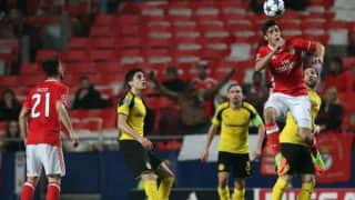 Champions League: Benfica defeat misfiring Borussia Dortmund 1-0 at Estadio da Luz