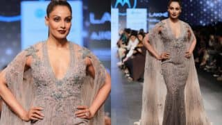 Lakme Fashion Week 2017: Bipasha Basu graces the ramp for Falguni and Shane Peacock on Day 3