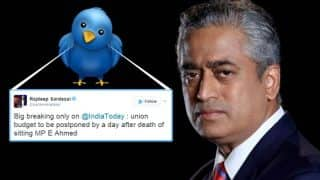 Union Budget 2017: Budget to be postponed by a day according to Rajdeep Sardesai's Twitter?
