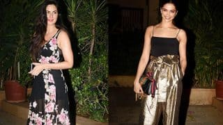 Exclusive! Deepika Padukone gives a royal ignore to Katrina Kaif at Shahid Kapoor's pre-birthday bash?