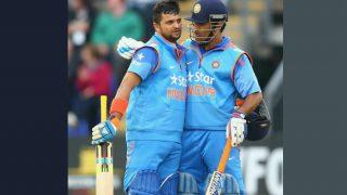 धोनी और रैना के अर्धशतक से भारत ने इंग्लैंड को 203 रन का लक्ष्य दिया