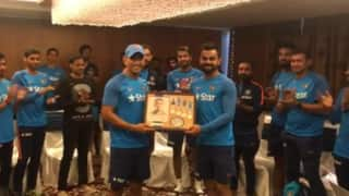 Team India honours MS Dhoni for his contribution as Captain and it will leave you in tears!