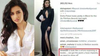 Disha Patani slays slut-shamers ridiculing her cleavage-revealing Jio Filmfare Awards dress! Read her powerful post