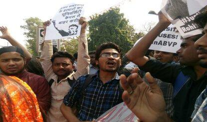 Delhi University protests LIVE: Students shout slogans against ABVP, say we want freedom of speech and expression