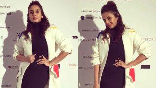 Woah! Huma Qureshi nailed the layered look at London Fashion Week 2017
