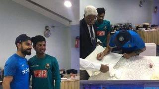 India vs Bangladesh: Soumya Sarkar and Mehedi Hasan fan boy moment with Virat Kohli