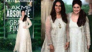 Lakme Fashion Week 2017: Taimur's mommy Kareena Kapoor Khan rocks the ramp in gold and white for Anita Dongre!