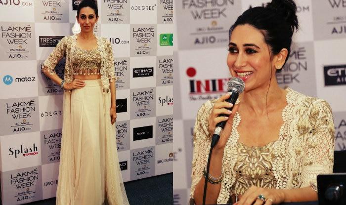 Lakme Fashion Week 2017 Karisma Kapoor Emits Boho Vibe In Arpita Mehta Ensemble India Com