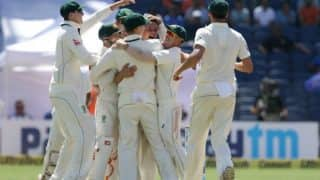 India vs Australia: India lose 7 for 11 as Steve O'Keefe spins hosts out for 105