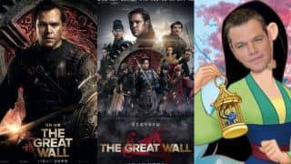 Matt Damon trolled by Asian Americans on Twitter for his role in The Great Wall