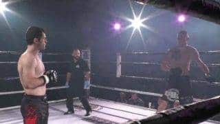 Watch: MMA fighter fixes opponent's dislocated shoulder mid-fight