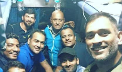 MS Dhoni takes train ride with Jharkhand team in 13 years