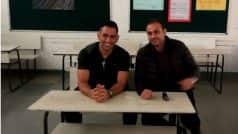 MS Dhoni visits Virender Sehwag's school, and that confirms all is well between the former India teammates