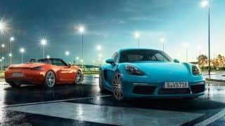 Porsche launches 718 Cayman,Boxster priced up to INR 85.53 lakh