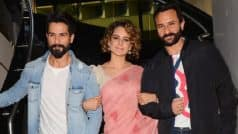 Kangana Ranaut shares some secrets about her Rangoon co-stars Saif Ali Khan and Shahid Kapoor and you can't miss this!