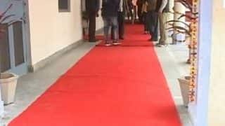 Red carpet laid at Amarinder Singh's polling booth, officials deny royal treatment was for him
