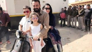 Sanjay Dutt's wife Maanayata and kids Sharaan and Iqra joins him on Bhoomi sets (See picture)