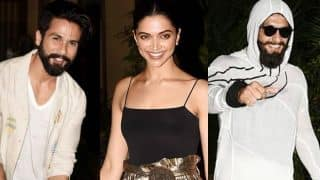 Deepika Padukone, Ranveer Singh, Shahid Kapoor are the news BFF's in town! Read EXCLUSIVE scoop