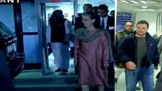Congress top brass including Sonia, Rahul visit ailing ex-minister E Ahamed in RML Hospital