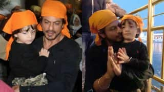 Shah Rukh Khan and AbRam spotted at Golden Temple after Raees box office success! See pics and video