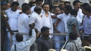 Trust vote: DMK leader MK Stalin arrested in Chennai, violence breaks out across Tamil Nadu