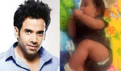 Forget Kareena's Taimur and Shahid's Misha, take a look at Tusshar Kapoor's son Laksshya, he is stealing our hearts (Watch video)