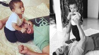 After Shahid Kapoor shares Misha's first pic, Salman Khan gets into a playful mode with Ahil (see pictures)