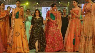 Bold and beautiful Richa Chadda looked royal in a lehenga and choli at the India Beach Fashion Week 2017
